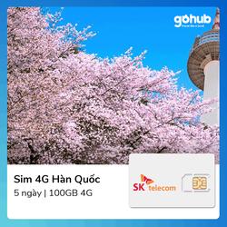 Sim Du lịch Hàn Quốc 100GB 4G 5 ngày - Sim Du lịch Hàn Quốc