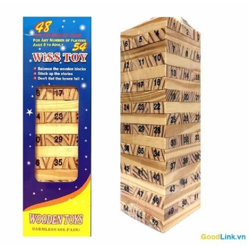Bộ đồ chơi rút gỗ wiss toy 54 thanh cho bé 5 cm x 5cm x 16.5cm - 20805803 , 23833895 , 15_23833895 , 25000 , Bo-do-choi-rut-go-wiss-toy-54-thanh-cho-be-5-cm-x-5cm-x-16.5cm-15_23833895 , sendo.vn , Bộ đồ chơi rút gỗ wiss toy 54 thanh cho bé 5 cm x 5cm x 16.5cm
