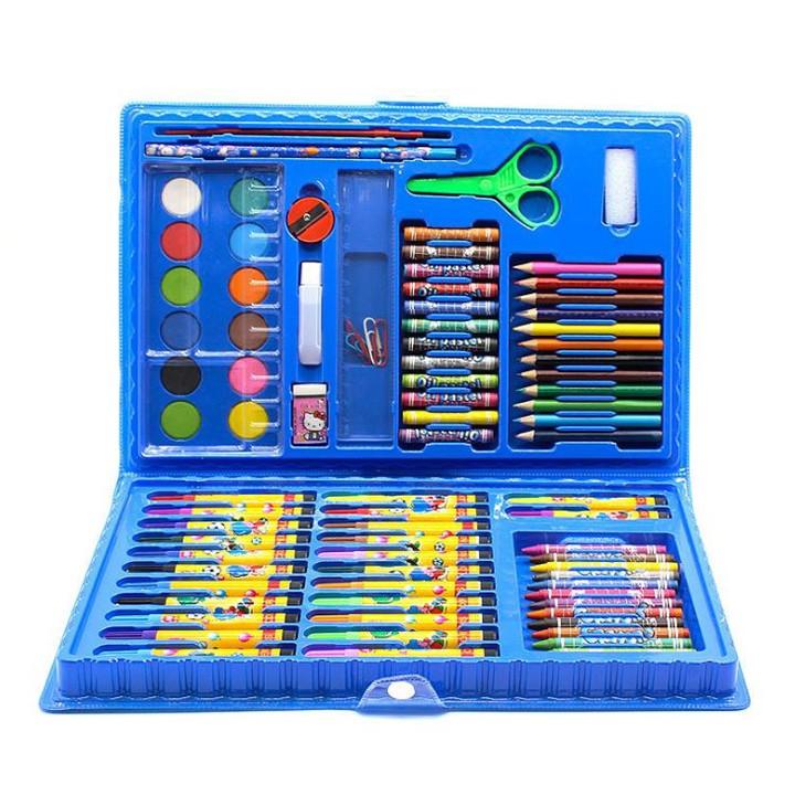 Bộ dụng cụ học sinh, văn phòng bút màu 86 món thông minh [ĐƯỢC KIỂM HÀNG]