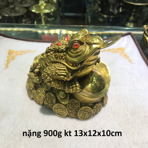 Cóc ngậm tiền bằng đồng vàng nặng kt 13x12x10cm - 19568989 , 23822278 , 15_23822278 , 500000 , Coc-ngam-tien-bang-dong-vang-nang-kt-13x12x10cm-15_23822278 , sendo.vn , Cóc ngậm tiền bằng đồng vàng nặng kt 13x12x10cm