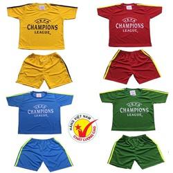 Set 4 bộ đồ đá banh dành cho bé trai và bé gái, trang phục bóng đó dành cho trẻ em, áo đấu đội tuyển, áo đấu câu lạc bộ dành cho bé từ 10-40kg- 4màu khác nhau