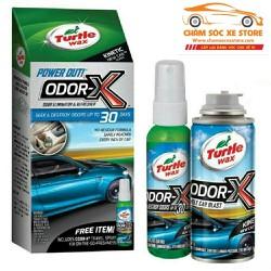 Bộ sản phẩm Turtle Wax diệt khuẩn và xịt khử mùi bên trong xe ôtô - Turtle Wax ODOR-X