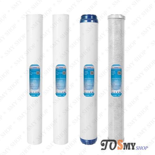 Bộ sản phẩm 4 lõi lọc nước số 1,2,3 20 inch - 2ultra fine + gac+ cto