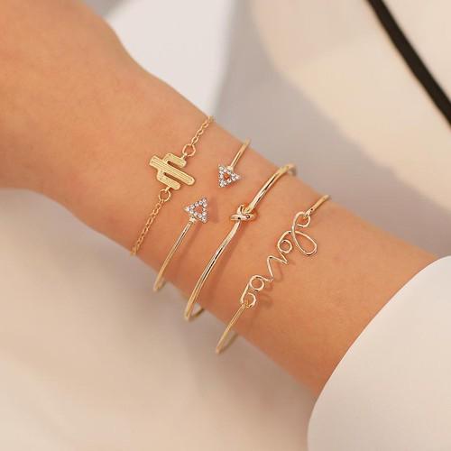 Set 4 vòng tay lắc tay thời trang nữ chữ love xương rồng & tam giác đính đá - 18113412 , 23892265 , 15_23892265 , 45000 , Set-4-vong-tay-lac-tay-thoi-trang-nu-chu-love-xuong-rong-tam-giac-dinh-da-15_23892265 , sendo.vn , Set 4 vòng tay lắc tay thời trang nữ chữ love xương rồng & tam giác đính đá