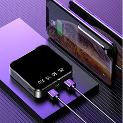 Pin sạc dự phòng 20000, - sạc dự phòng siêu nhỏ bỏ túi có hiển thị phần trăm pin