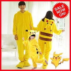 BỘ ĐỒ HÌNH THÚ Pikachu Liền Thân Pijama Cosplay - HIPS STORE