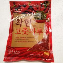 Ớt bột hàn quốc làm kim chi mỳ cay tokbokki - hiệu Nongwoo gói 500g