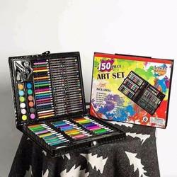 Set bút màu 150 chi tiết dạng cắp sách