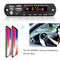 Mạch bluetooth 5.0 có đèn nháy5v_12v bộ giải mã âm thanh USB TF FM aux
