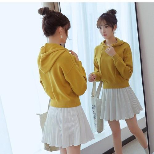 Áo hoodie nữ len