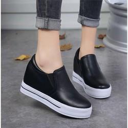 Giày Sneakers Nữ Độn Đế 8cm Mã H56