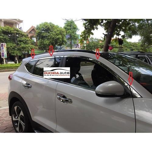 Hyundai tucson 2019 ốp nẹp viền cong kính theo xe inox cao cấp