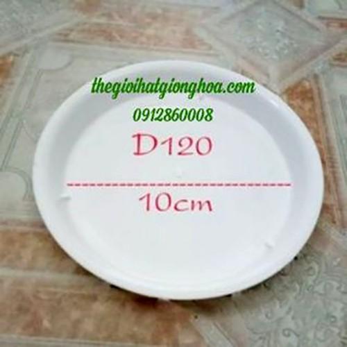 3 cái đĩa tròn lót chậu đường kính cả đĩa 12 cm, lòng đĩa 10 cm