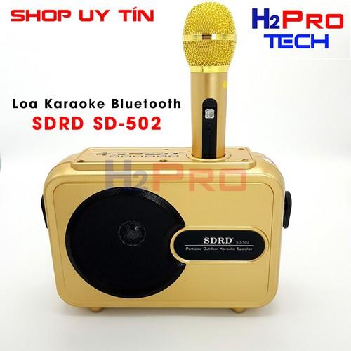 Loa karaoke bluetooth sdrd sd-502 tay xách, micro cầm tay - 80w loa lớn, hát êm hay   loa bluetooth
