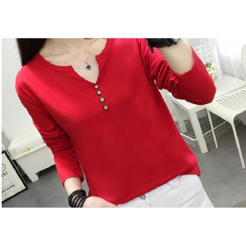 Áo thun đỏ dài tay 48-75kg