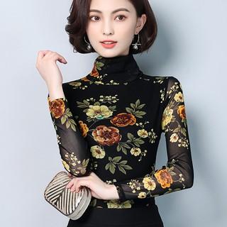 Áo thun cổ cao hoa 3D - thun cc hoa 3D thumbnail