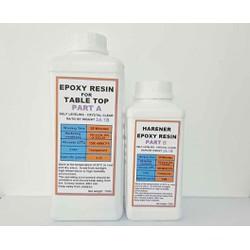 Acrylic Epoxy Resin Đổ Tráng Bề Mặt Bàn Chịu Lực E68AB-F Bộ 1Kg