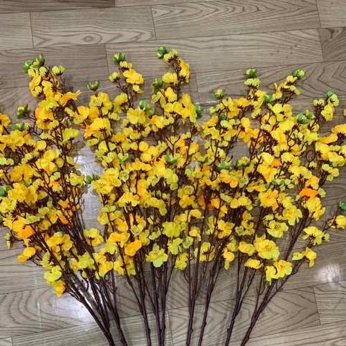 Cành hoa giả - cành mai trang trí loại 1 - sỉ sll