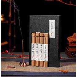 Nhang trầm hương Nha Trang 4 ống 20gr, đế cắm đồng