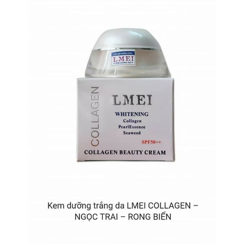 Lmei kem dưỡng trắng da ngọc trai collagen