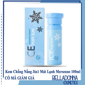 Kem Chống Nắng 3in1 Make Up Mát Lạnh Mersenne Beaute Ice Puff Sun SPF50 100ml - mersenner-cn