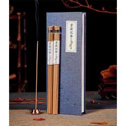 Nhang trầm hương Nha Trang 2 ống dài 20gr, đế cắm đồng