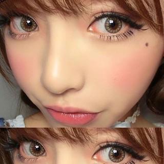 Lens mắt kính áp tròng Nâu Brown, không độ, Tặng khay đựng sử dụng 1 năm không cộm mắt l10 [ĐƯỢC KIỂM HÀNG] 23952563 - 23952563 thumbnail