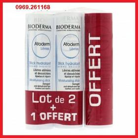 Son Dưỡng Môi Không Màu #Bioderma Atoderm Levres Stick Hydratant - Pháp - Son Dưỡng Môi Không Màu #Bioderma Atoderm
