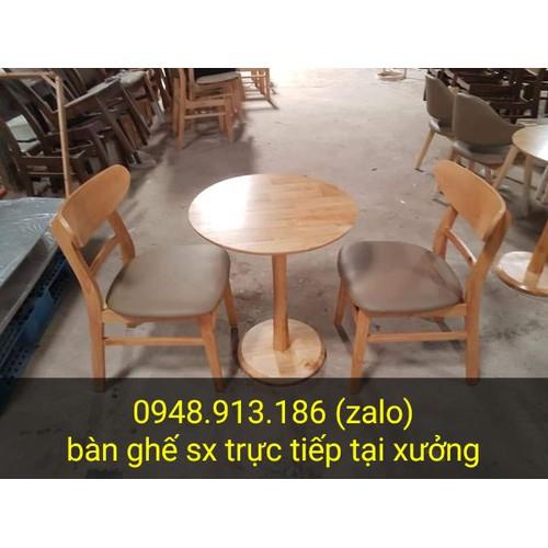 Thanh lý bàn ghế cafe gỗ giá rẻ