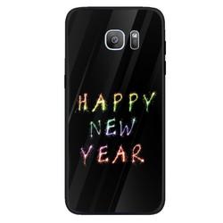 Ốp điện thoại kính cường lực cho máy Samsung Galaxy S7 edge - Happy new year MS ABDV001