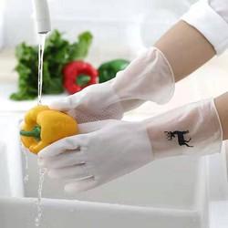 Găng tay cao su siêu dai hình con hươu – Găng tay rửa chén – Găng tay rửa bát (Size ngẫu nhiên)