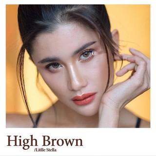 Lens mắt kính áp tròng Nâu Brown, không độ, Tặng khay đựng sử dụng 1 năm không cộm mắt l8 - l8 thumbnail