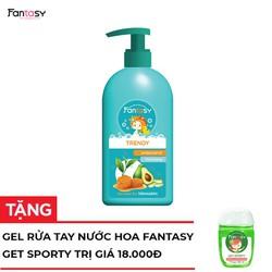 [Quà Đỉnh Deal 0Đ] Sữa Tắm Nước Hoa Fantasy Trendy 400ml Tặng Nước rửa tay nước hoa Fantasy diệt khuẩn 99,99 Get Sporty 20ml