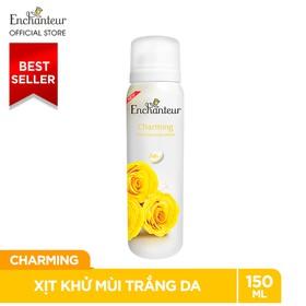 Xịt Khử Mùi Nước Hoa Enchanteur Charming Nồng Nàn Duyên Dáng Ngăn Mồ Hôi Mùi Cơ Thể 150ml - xkm-Enchanteur-Charming-150ml