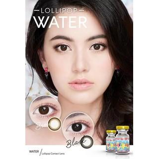 Lens mắt kính áp tròng Nâu Brown, không độ, Tặng khay đựng sử dụng 1 năm không cộm mắt l11 - l11 thumbnail