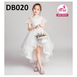 Đầm bé gái đuôi trắng cực xinh - Váy đầm công chúa bé gái thiết kế cao cấp - Váy công chúa cho bé 2020  - Đầm công chúa - Đầm bé gái