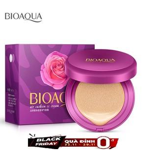 [QUÀ ĐỈNH OĐ] Kem Nền Kiêm Phấn Trang Điểm CC Cream Bioqua + tặng 100 miếng bông tẩy trang Hàn Quốc - 7715-1 1
