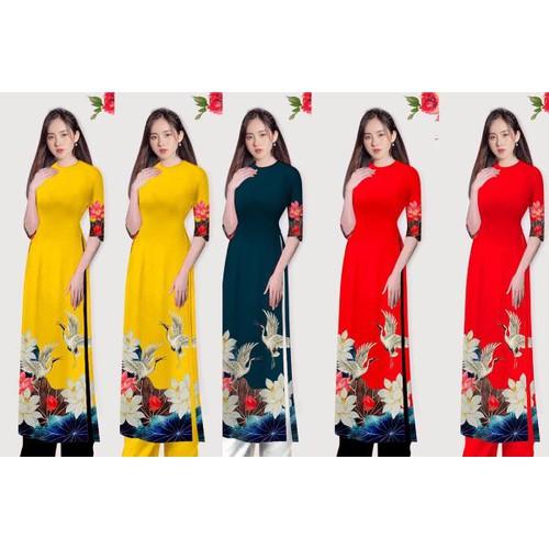Set áo dài in hoa sen và chim hạt tay lở - 20939471 , 24023253 , 15_24023253 , 420000 , Set-ao-dai-in-hoa-sen-va-chim-hat-tay-lo-15_24023253 , sendo.vn , Set áo dài in hoa sen và chim hạt tay lở