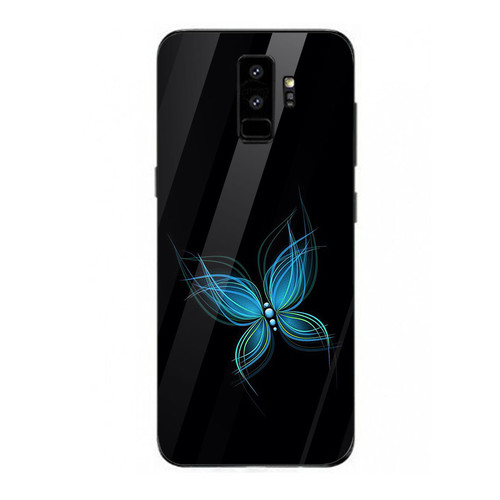Ốp kính cường lực cho điện thoại samsung galaxy s9 plus - blue butterfly  ms abeth001