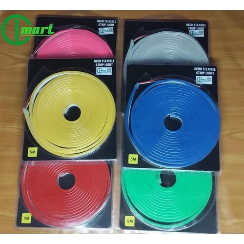 Led neon  đơn sắc  đủ các màu 12v dài 5 mét