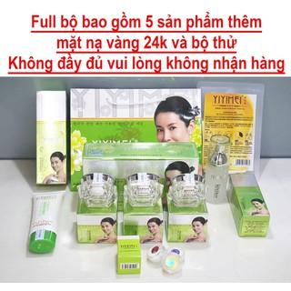 Bộ mỹ phẩm trị nám Yiyimei, mỹ phẩm dưỡng trắng và trị nám tàn nhang Yiyime, có kèm bộ thử và mặt nạ yiyimei. - Bộ Yiyimei 8