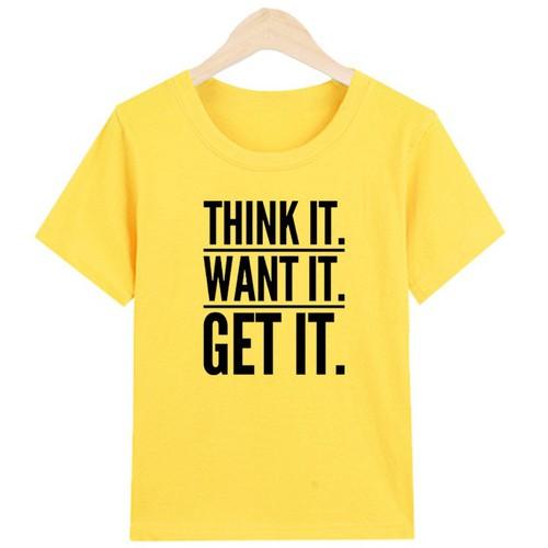 [ được xem hàng ] áo thun nam in chữ think it- want it- get it chất liệu polly cotton pm1355 sản phẩm gian hàng pumbaa