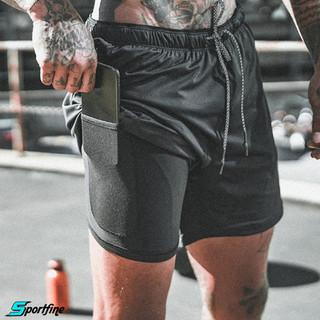 Quần Tập Gym Nam Quần Short Thể Thao 2 Lớp Gym Chạy Bộ Đựng điện thoại - QTGM100 thumbnail