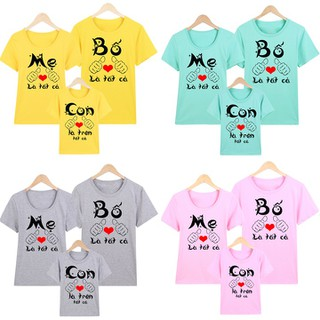 áo thun gia đình - áo thun gia đình LẺ M17 thumbnail