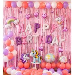 Set trang trí sinh nhật - Rèm trang trí sinh nhật - Bóng trang trí sinh nhật