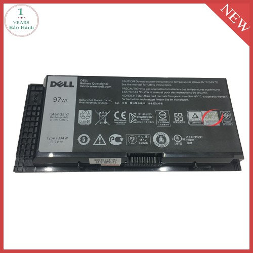 Pin laptop dell x57f1 97 wh