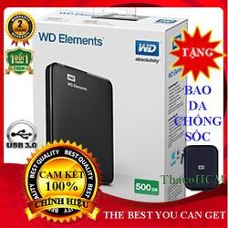 HOT Ổ cứng di động 500 GB Elements Tặng Bao chống Sốc