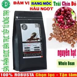 Cà Phê Rang Mộc Nguyên hạt Whole Bean DUC ANH COFFEE thành phần Robusta Buôn Ma Thuột – gói 500gr – Sản phẩm tâm huyết bán trực tiếp từ nông trại – Thương hiệu Việt – giao hàng nhanh chóng – phù hợp pha máy & pha phin