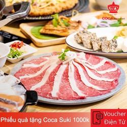 Evoucher Coca Suki - Phiếu quà tặng Coca Suki 1.000.000 VND