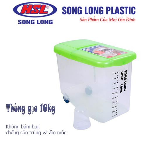 Thùng nhựa đựng gạo song long có bánh xe 10kg - 20951218 , 24039717 , 15_24039717 , 140000 , Thung-nhua-dung-gao-song-long-co-banh-xe-10kg-15_24039717 , sendo.vn , Thùng nhựa đựng gạo song long có bánh xe 10kg